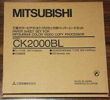 Mitsubishi ck2000bl papel y farbrolle (S/W) para cp-2000 y cp-2500e serie