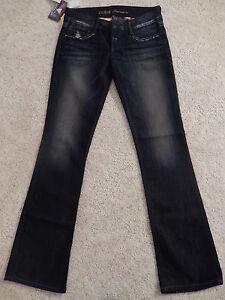 Daredevil Boot Bukser Cut Guess Denim 27 Jeans Low Premium Mørkeblå Rise Størrelse wqnS4angx