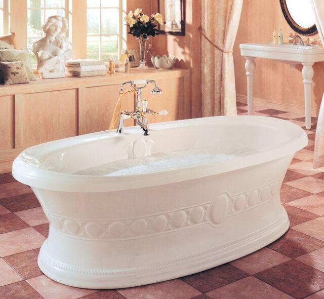 Neptune ULYSSE Classic 72x38 Freestanding Bath Tub Soaker Optional ...