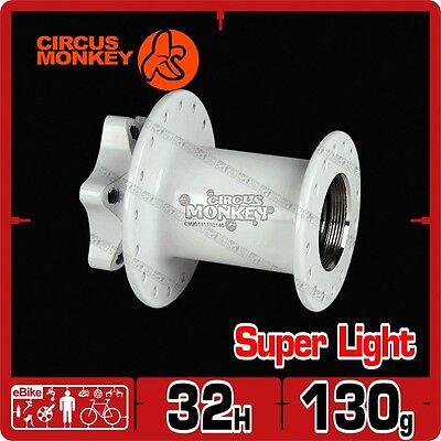 Circus Monkey HDW CNC 6 Bolt Disc MTB Front Hub 119g 32 Hole White