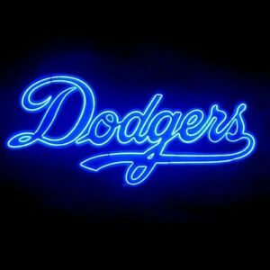 Details about New Los Angeles Dodgers Bar Pub Decor Real Glass Neon Light  Sign 26