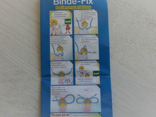 Binde-Fix die clevere Schnürhilfe