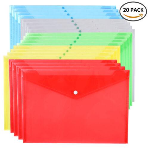 20x a4 Stud en plastique Popper document dossiers dépôt de stockage école BT