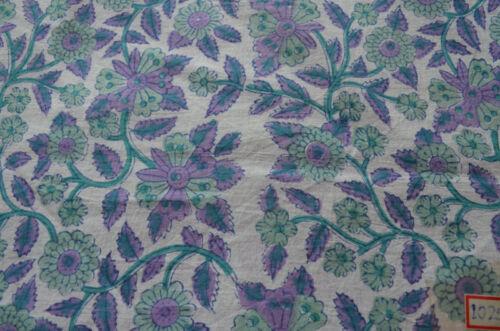 Cotton Fabric Loose Running Craft Dressmaking Art 3 Yard Indian Hand Block Print