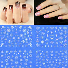 1pc Water Transfer Nail Art Stickers Xmas Snow Flake Angle Christmas Decals Gift