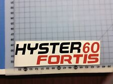 2 Hyster 60 Fortis Forklift Decals Stickers