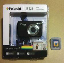 NEW SEALED - POLAROID iS 624 16MP DIGITAL PHOTO CAMERA + KODAK 2 GB SD CARD