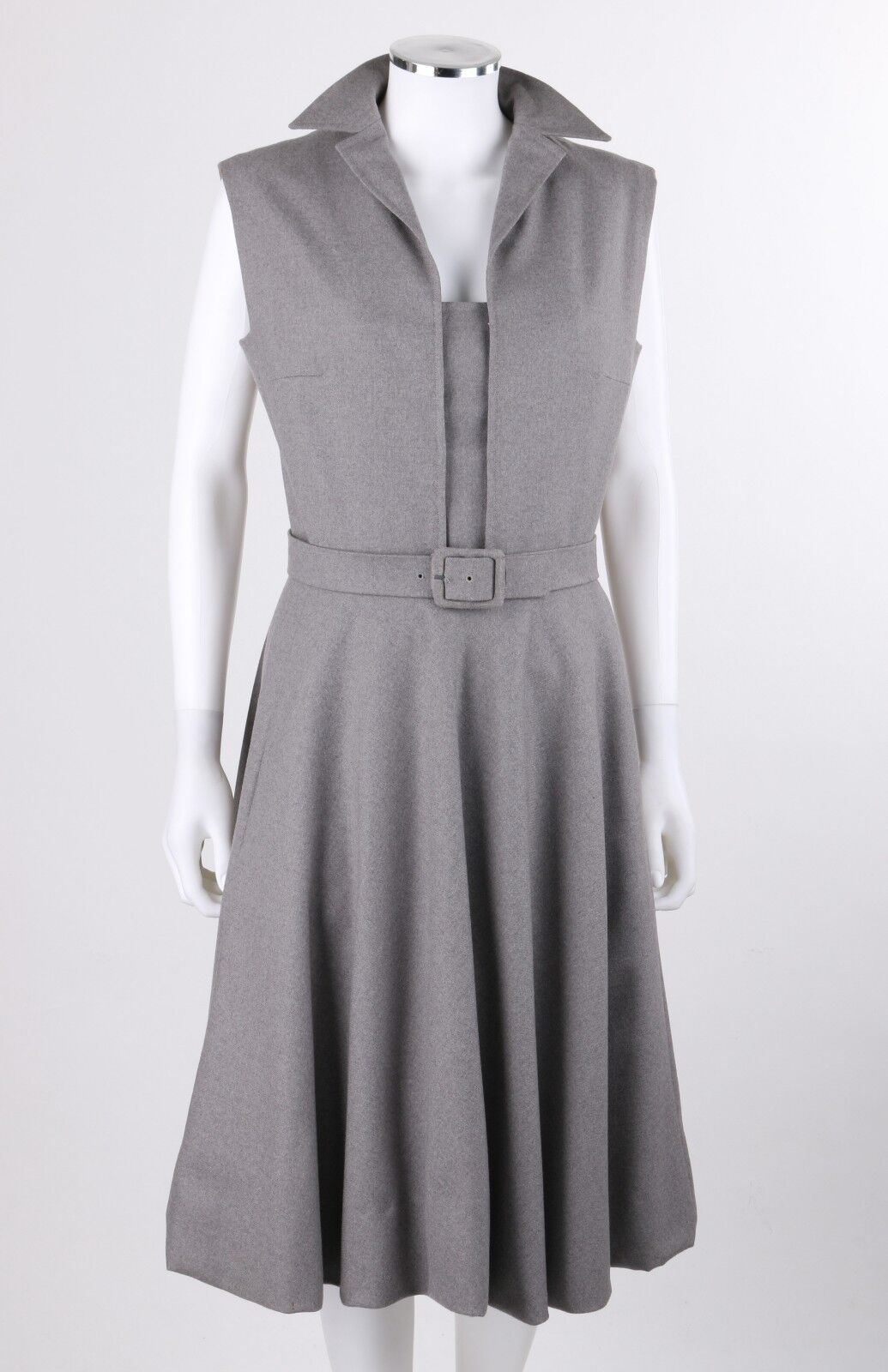 PAULINE TRIGERE c.1980's Gray Wool Extended Shoul… - image 2