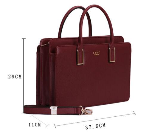 Womens LYDC Laptop Briefcase Bag Office Work Handbag School College Satchel Gift