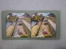 #1317 Ingersoll Stereoscope Card of Pasig River, Manila, Philippine Islands