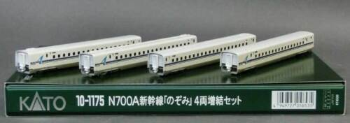N Kato 10-1175 Series N700A Shinkansen Bullet Train Nozomi 4 Cars Add-On Set