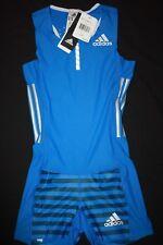 48fef426f39e ADIDAS Women s Adizero Racing Compression Leotard Striped Suit NWT Size  XS