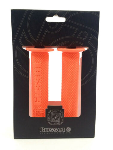 Gusset Components File Mountain Bike Grips Neon Orange