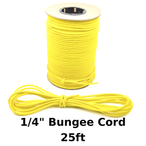 """25ft 1//4/"""" Red Bungee Cord Marine Grade Heavy Duty Shock Rope Tie Down Stretch"""