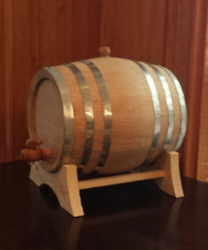 10 Liter Oak barrel with Galvanized hoops for whiskey or spirits great gift idea