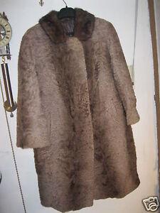 Details zu Damen Pelzjacke Persianer Jacke Mantel Pelzmantel braun HEISSEN Meppen Markt XL