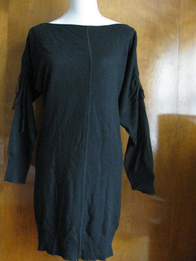 Chelsea & Theodore Woherren schwarz Cashmere Silk Dress Größe Small NWT