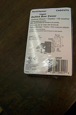 new pass /& seymour ca8wh Cover 1Gang Duplex Receptacle Horizontal cover