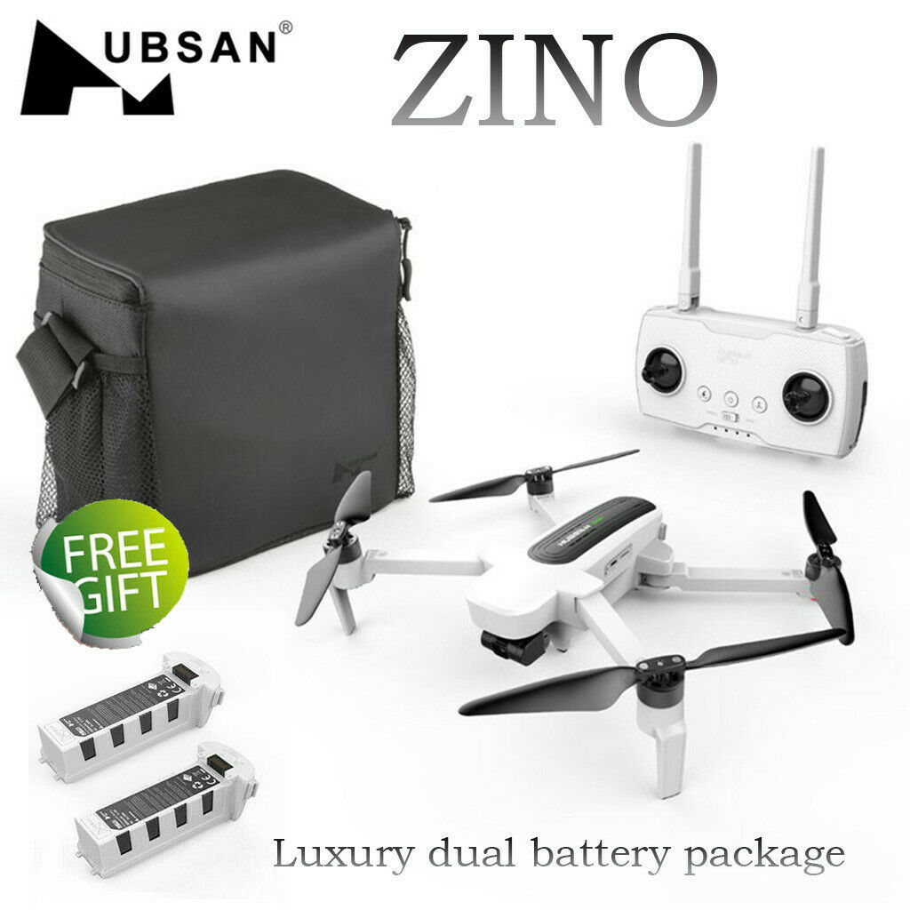 Hubsan Zino H117S Drone with 4K HD Camera GPS WIFI FPV Quadcopter + 2PC Battery