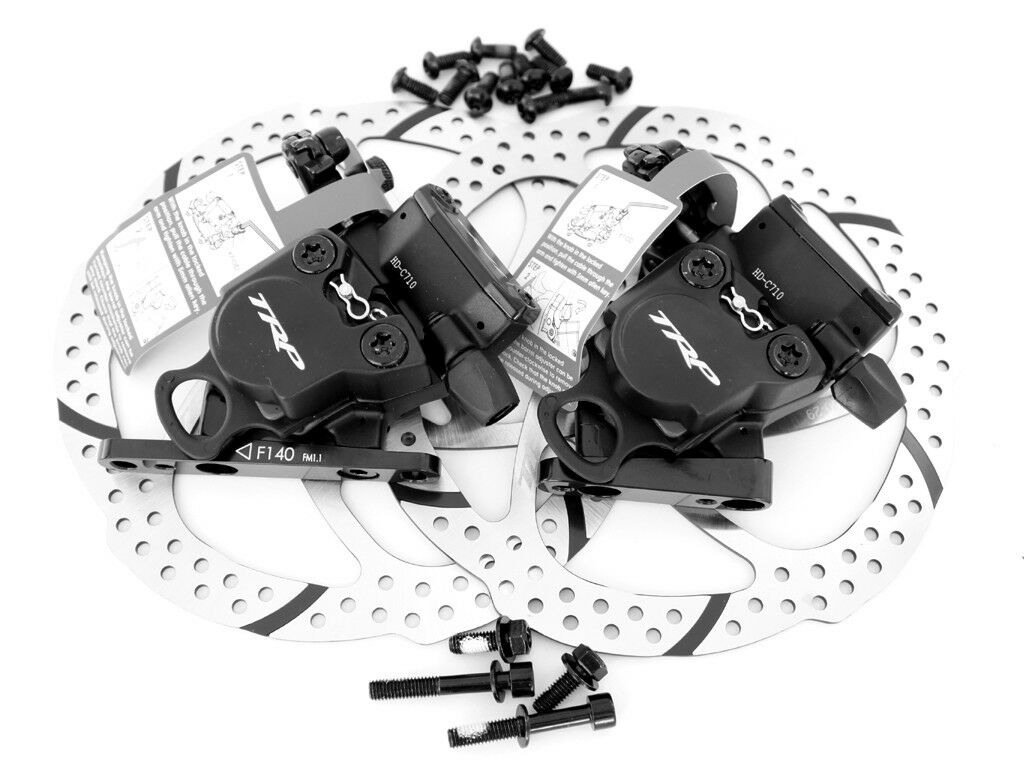 TRP HY RD Flat Mount Road Hydraulic Disc Brake Set w  160mm redor