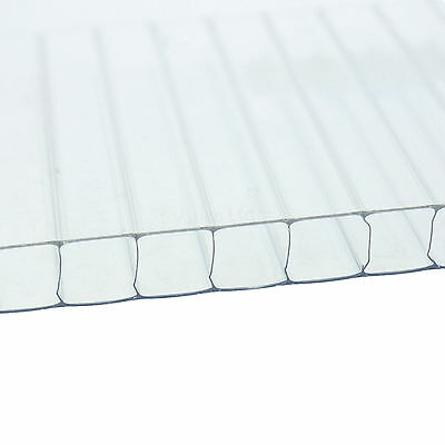 10 pc 2ft x 4ft x 4mm Greenhouse Twinwall Polycarbonate Glass Replacement