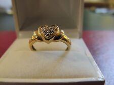 """Bague or 18 carats """"coeur"""" et diamants"""