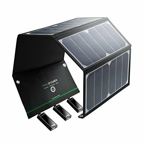 [Top Rated Solar Charger] RAVPower 24W Solar Charger with Triple USB Ports  Most