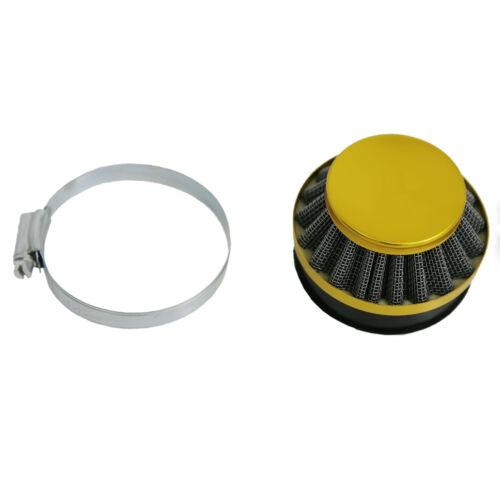 J1KUZHE Carburetor /& Yellow Air Filter For 49cc 60cc 80cc Motor Motorized Bike