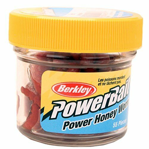 /& Panfish Bait Crappie Berkley Powerbait Honey Worm 1 inch 55pc Bluegill