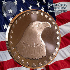 American Eagle Copper 1oz .999 Fine Copper Beautiful Round