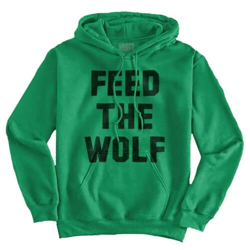 Feed The Wolf Hangry Workout Fitness Gym Gift Hooded Sweatshirts Hoodies For Men