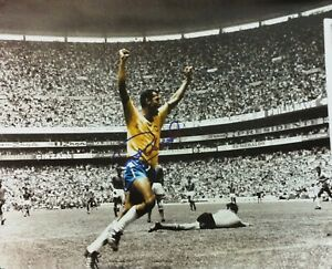 CARLOS ALBERTO SIGNED 16x12 BRAZIL 1970 FIFA  WORLD CUP FINAL ITALY PHOTO PROOF