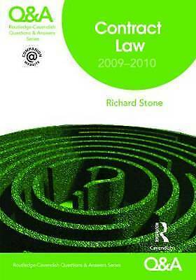 Q&A Contract Law 2009-2010 (Questions and Answers), Stone, Richard | Paperback B