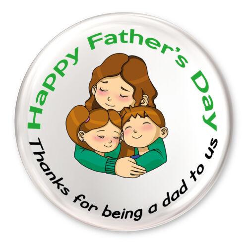 Fête des Pères Carte /& Badge pour maman-Merci Pour être un père pour nous