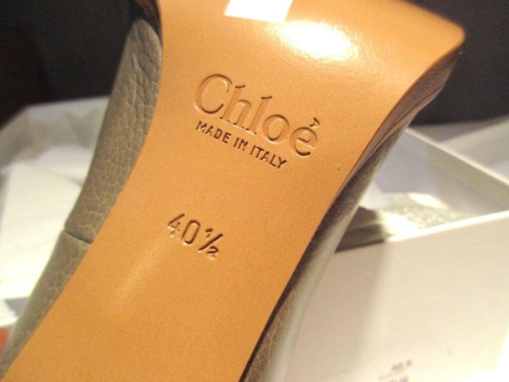 Chloe Chloe Chloe Runway Cross Over Strap Escarpins Talons Cheville Daim Talons 850 40.5 10.5   60a69e