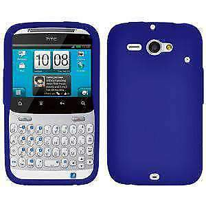 AMZER-Silicone-Skin-Jelly-Case-Cover-For-HTC-ChaCha-Status-Blue