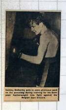 1954 Sammy Mccarthy Working Out With Punchbag Featherweight Fight Jean Sneyers