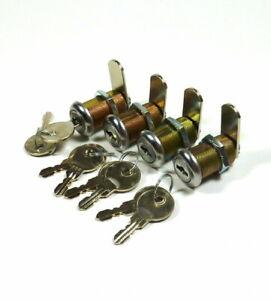 LOT-OF-4-1-1-8-034-PINBALL-MACHINE-ARCADE-GAME-LOCK-SUZO-HAPP-KEYED-ALIKE-1-1-8-034
