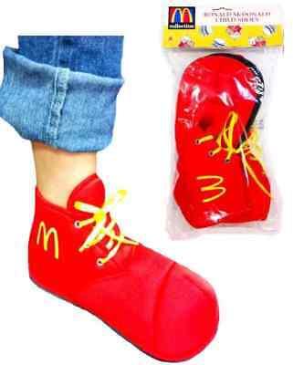 McDonalds Ronald McDonald Child Kids Clown Costume Red Slipper Shoes Accessory