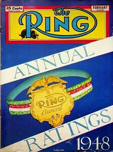 """Vintage February 1949 """"The Ring"""" Magazine 1948 Annual Ratings Edition m1255"""