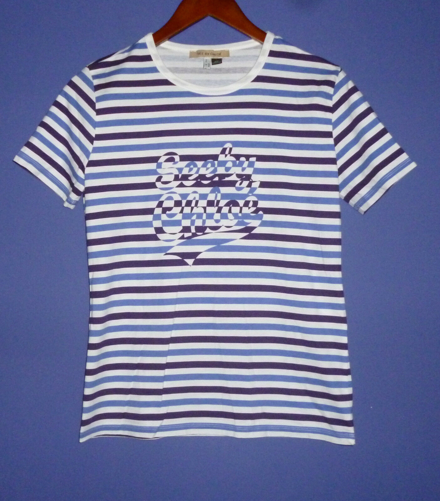 SEE by CHLOE cotton t-shirt. Size US8. Made in Portugal.