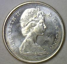 1967 Elizabeth II Twenty Five Cent Coin Silver Uncirculated BU Canada Bobcat #R