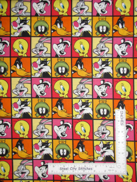 1 yard Looney Tunes Every Day is Fun Day Fabric