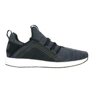 27fbed6dba53 PUMA Mega NRGY Knit Black Asphalt White Men Running Shoes SNEAKERS ...