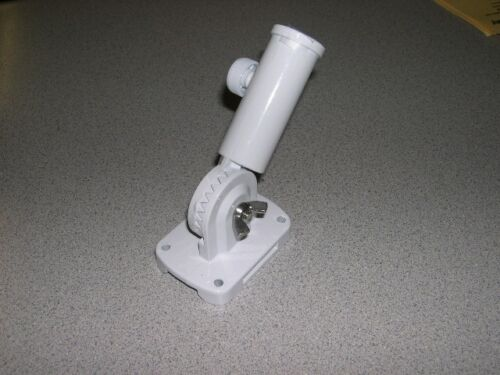 White Adjustable Aluminum Bracket 13 positions screws anchors included