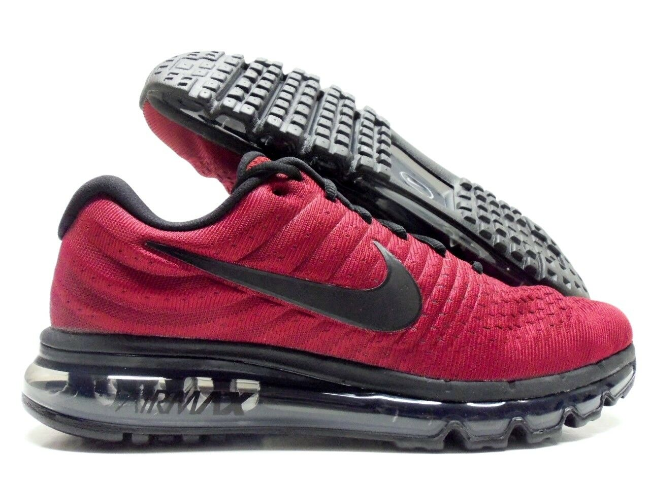 NIKE AIR MAX 2017 TEAM REDBLACK DARK GREY SIZE MEN'S 9 [849559 603]