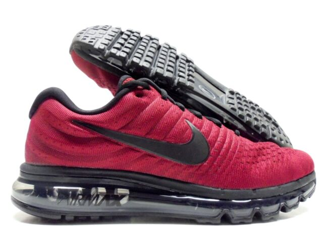 quality design 4d69e 646fd Nike Air Max 2017 Mens 849559-603 Team Red Black Grey Running Shoes Size 10