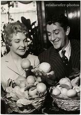 Line Renaud & Jean-Claude Pascal, Original-Photo from 1957