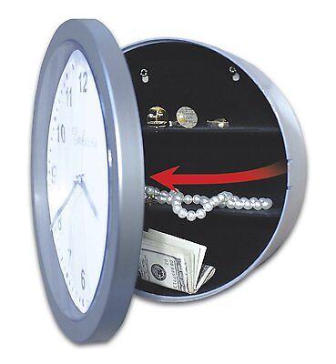 Hidden Safe Wall Clock - Stash Valuable Storage in Secret Compartment