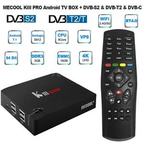 Details about MECOOL KIII PRO TV Box Amlogic S912 Octa Core DVB-S2/T/C  Android 7 1 3G+16G O4X8